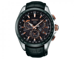 SEIKO Men's Hand Watch Astron with leather band & water resistant SSE061J1