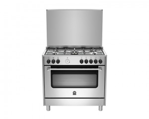 La Germania Cooker 5 Gas Burners 90x60 Stainless with Grill AMS95C31CX
