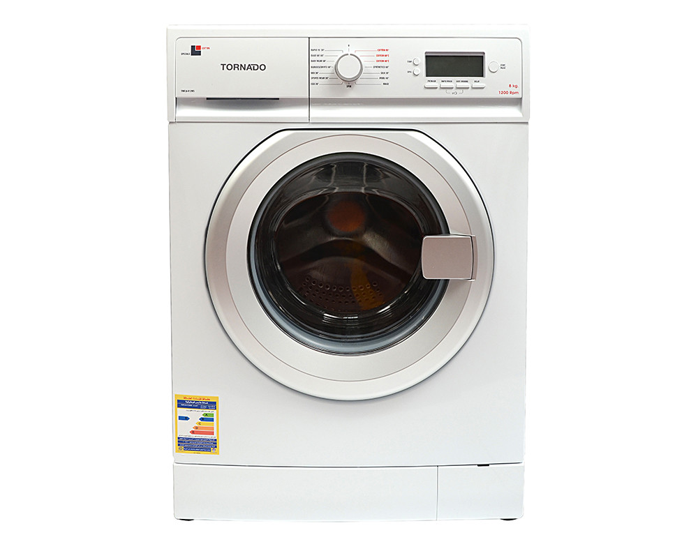 Tornado Washing Machine 8 Kg Fully Automatic in White color TWFL8-V12WS