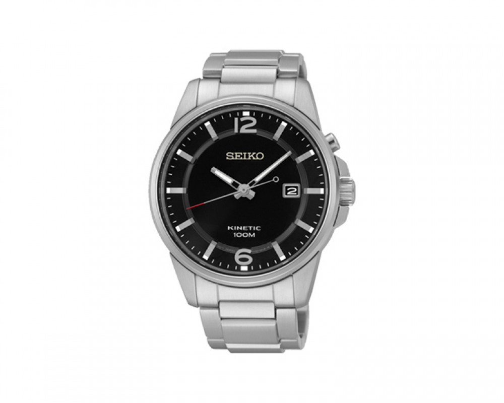 SEIKO Men's Hand Watch Kinetic Stainless Steel Band & 1 Year Warranty SKA665P1