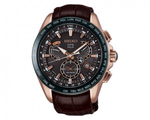 SEIKO Men Hand Watch Astron with leather band & water resistant SSE060J1