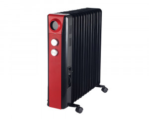 Tornado Oil Heater 15 Fins 3000 Watt With Black X Red Color & 3 Heat Settings TOH-15R