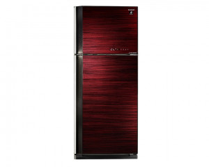 Sharp Refrigerator 450 Liters Inverter 2 Glass Red Door with Plasma Cluster SJ-GV58A(RD)