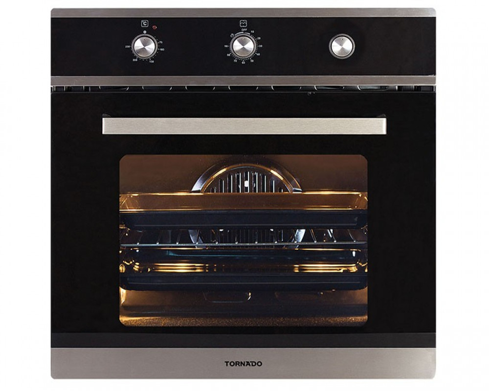 Tornado Gas Oven Stainless Steel With Cooling Fan And Grill 64 Liters OV60GMFFS-2