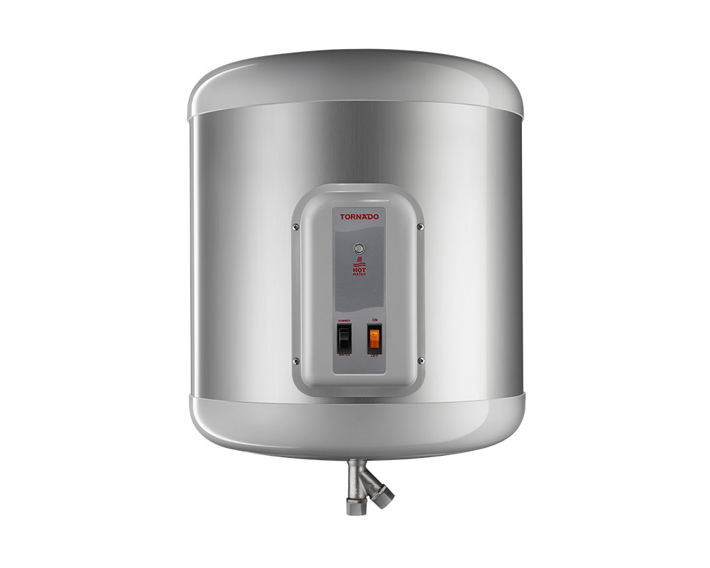 Tornado Electric Water Heater 65 Litre with LED Indicator in Silver Color EHA-65TSM-S