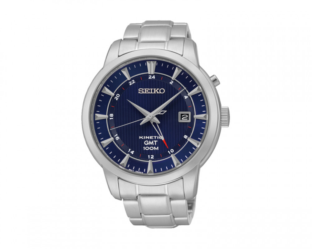 SEIKO Men's Hand Watch Kinetic Stainless Steel Band & 1 Year Warranty SUN031P1
