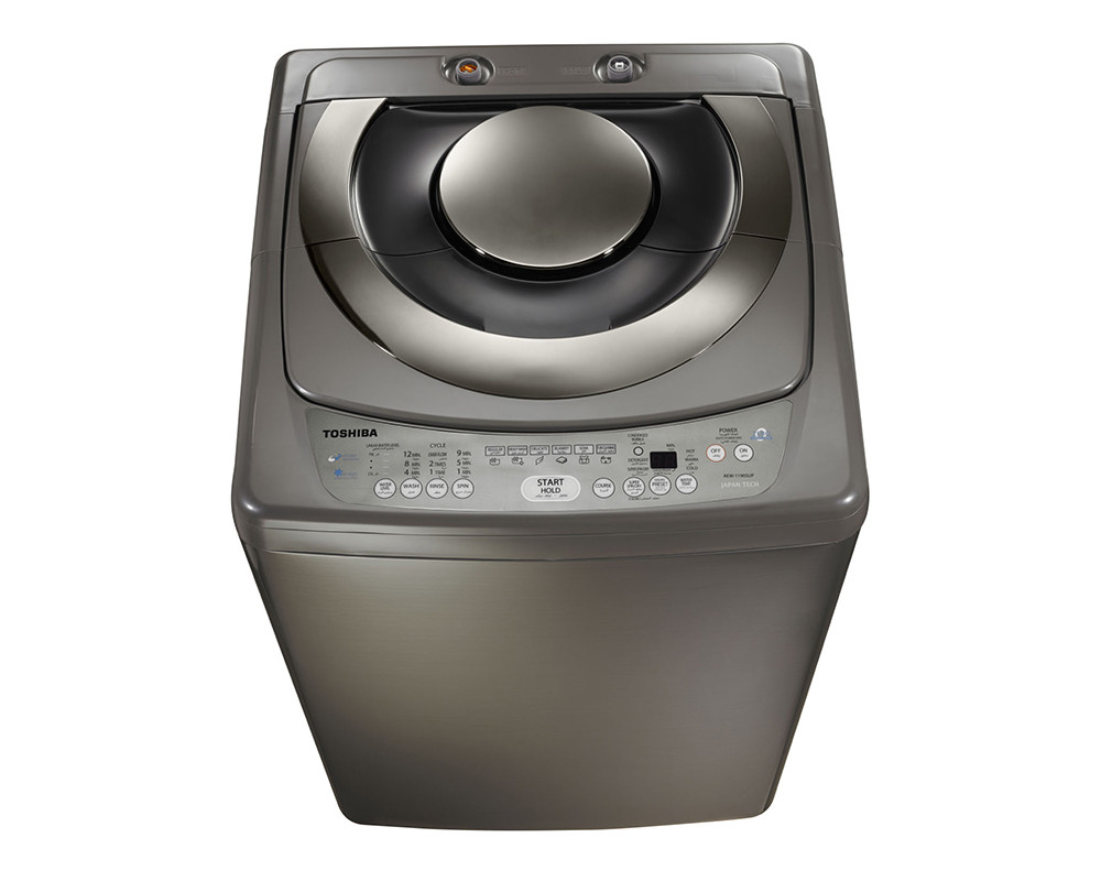 Toshiba Washing Machine 10KG Top Automatic with Pump in Dark Silver AEW-9790SUP(DS)