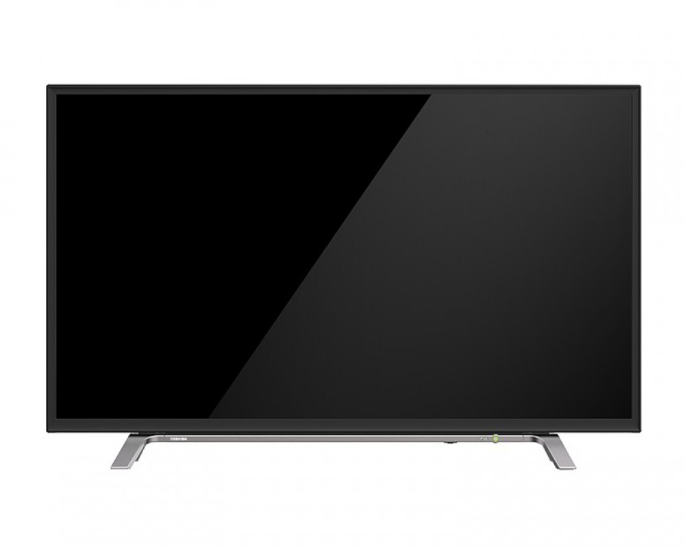 Toshiba LED TV 43 Inch Full HD with 1 USB and 2 HDMI Inputs & Silver base 43L260MEA-S