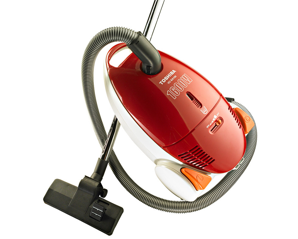 Toshiba Vacuum Cleaner 1600 Watt with Dusting Brush & Red and Blue Color VC-EA100