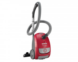 HOOVER Vacuum Cleaner 1800 Watt with Carpets, Floor nozzle & Red x Gray TCP1805020