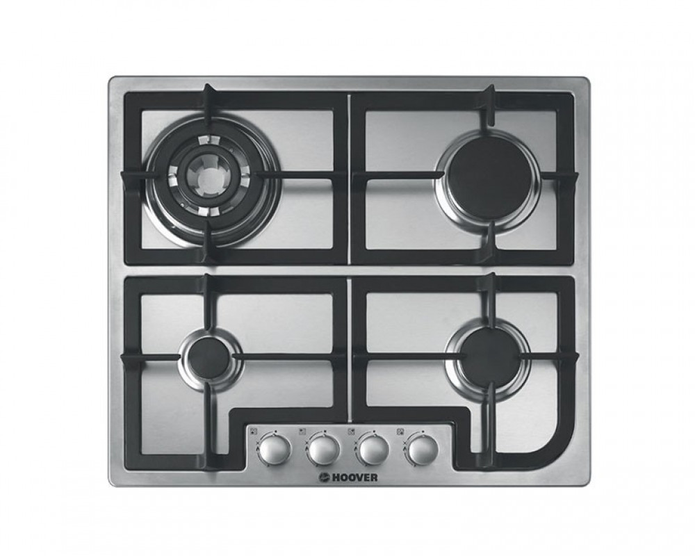 Hoover built-in Hob Gas 60cm 4 Burners Stainless Steel HGH64SQCX