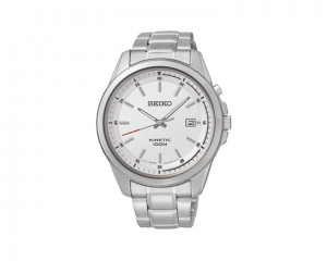 SEIKO Men's Hand Watch Kinetic Stainless Steel Band & 1 Year Warranty SKA673P1