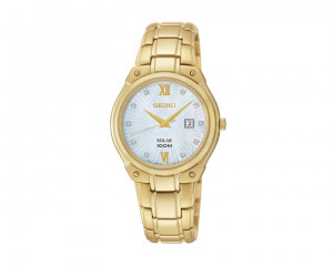SEIKO Ladies' Hand Watch Solar with 1 year international warranty SUT216P1