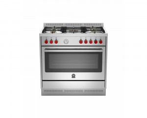 La Germania Cooker Prima 5 Gas Burners 90x60 cm with 2 Fans Stainless color RIS95C81AX