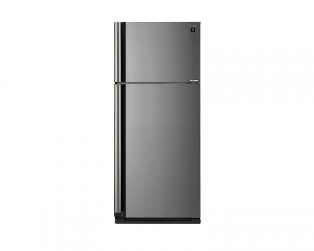 Sharp Refrigerator 642 Litres 2 Doors Silver color Inverter technology with Plasma Cluster SJ-SE75D-SL