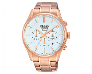 ALBA Men's hand watch Prestige Silver white dial and water resistant AT3872X1