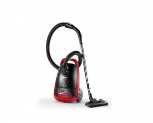 TOSHIBA Vacuum Cleaner 1600 Watt in Black X Red color with curtain brush VC-EA1600