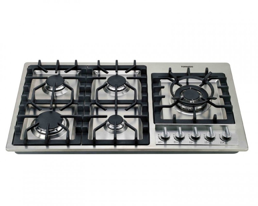Tornado built-in Hob Gas Cooker 90cm 5 Burners Stainless Steel PI905GAFS-1