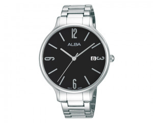 ALBA Ladies hand watch Fashion Black dial & Stainless Steel band AS9859X1