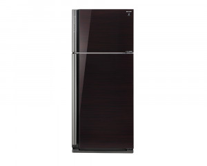 Sharp Refrigerator 599 Liter Inverter 2 Door Black Glass with Plasma Cluster SJ-GP70D-BK