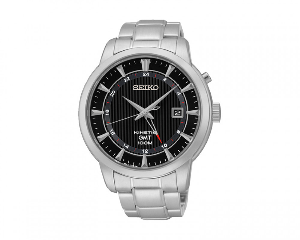 SEIKO Men's Hand Watch Kinetic Stainless Steel Band & 1 Year Warranty SUN033P1