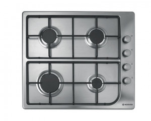 Hoover built-in Hob Gas 60cm 4 Burners Stainless Steel HGL64SX