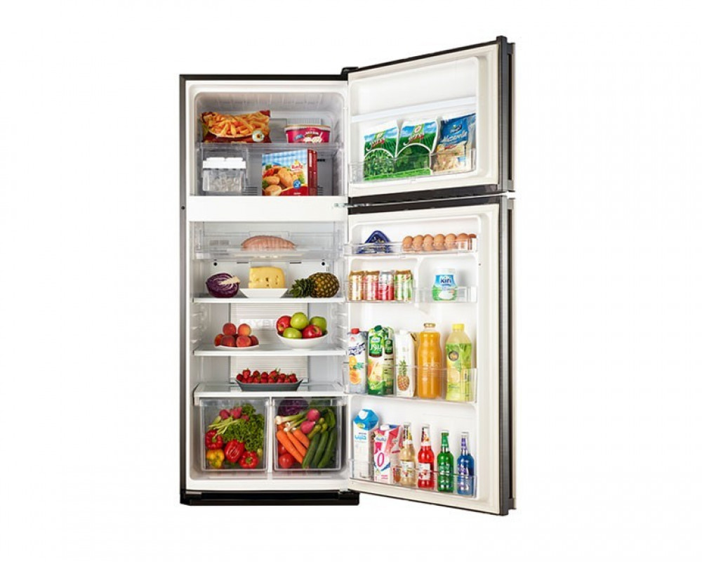 Sharp Refrigerator 384 Litre 2 Door Stainless Color Digital with Plasma Cluster SJ-PC48A(ST)