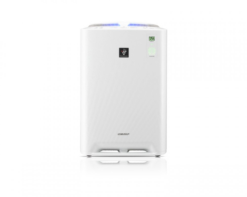 Sharp air purifier Plasmacluster area 26m2 with Humidifying filter & White Color KC-A40SA-W