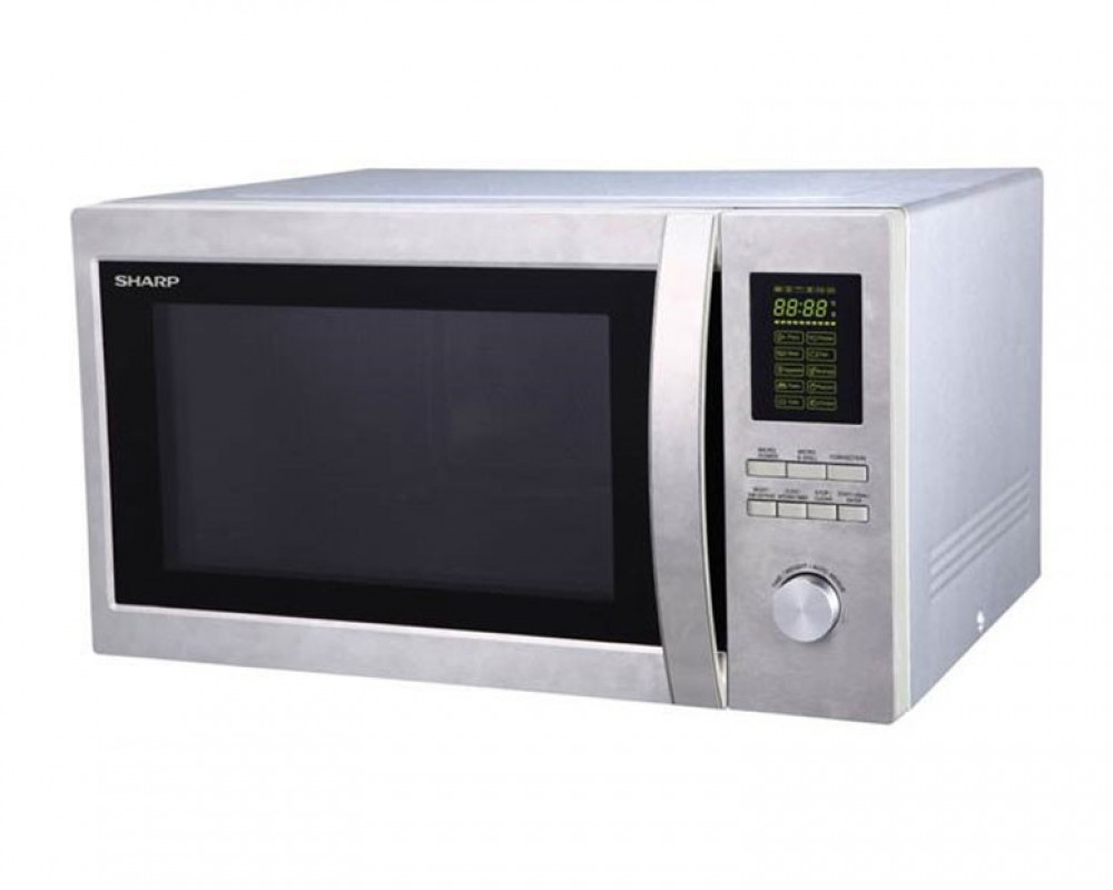 Sharp Microwave 1100 Watt 43 Litre with Grill 1200 Watt & Silver Color R-78BR(ST)