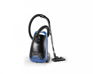TOSHIBA Vacuum Cleaner 1600 Watt in Black X Blue color with curtain brush VC-EA1600B