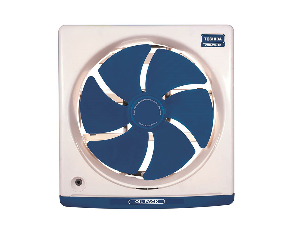 Toshiba Kitchen Ventilating Fan Size 20cm with Off White and Dark Blue Colors VRH20J10