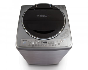Toshiba Washing Machine 13 KG Top automatic Inverter in silver color AEW-DC1300SUP(SS)
