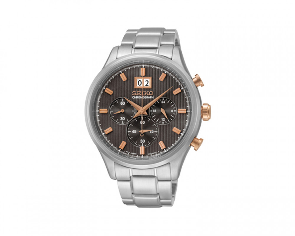 SEIKO Men's Chronograph Hand Watch Stainless Steel Band & 1Year Warranty SPC151P1