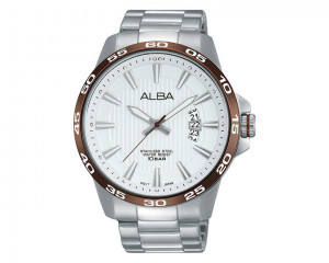 Alba Men's hand watch Active Silver dial and Stainless steel bracelet AS9999X1