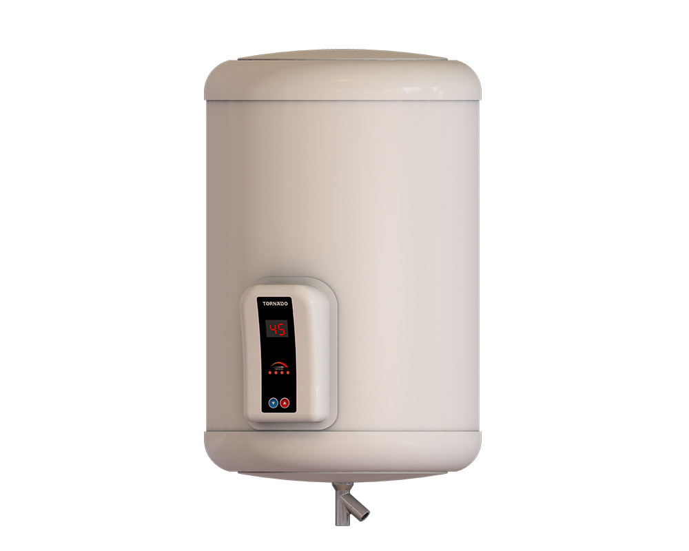Tornado Electric Water Heater 35 Litre Digital Off White Color EHA-35TSD-F
