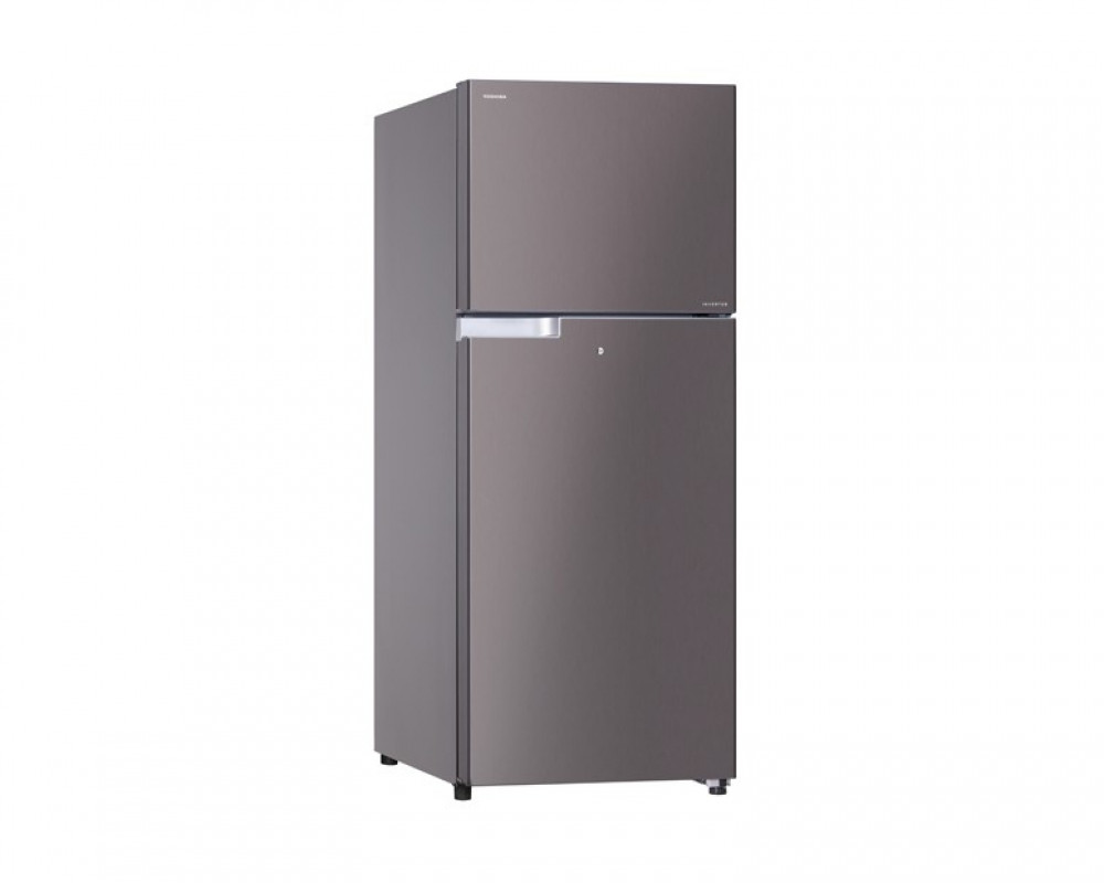 Toshiba Refrigerator Inverter 2 Door 409L Stainless Color With Glass Shelves GR-T46UBZ-E(DS)