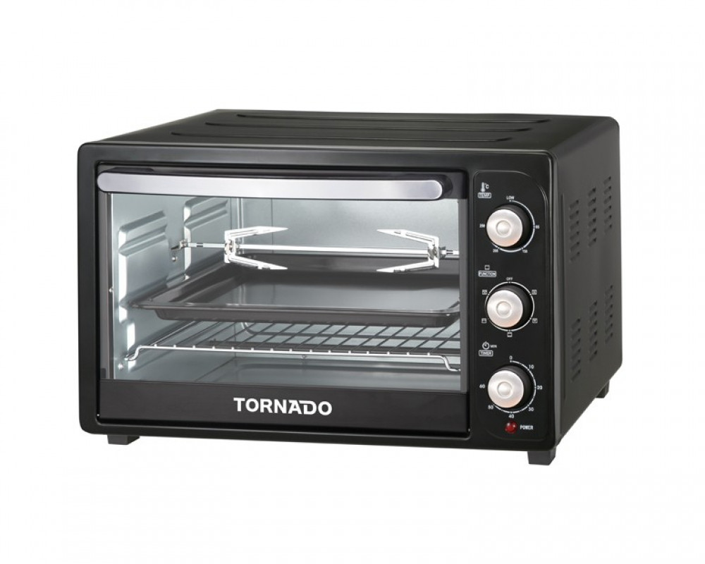 Tornado Electric Oven 1500 Watt 35 Litre with Lamp & Grill and Fan TEO-35RCL