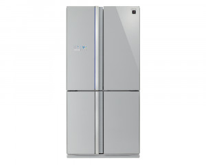 Sharp Refrigerator 600 Litre 4Door Digital Glass Silver color SJ-FS85V-SL