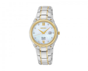 SEIKO Ladies' Hand Watch Solar with 1 year international warranty SUT214P1
