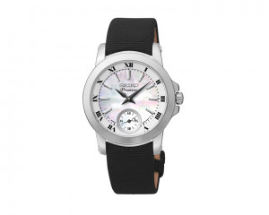 SEIKO Ladies' hand watch Premier with textil band & water resistance SRKZ63P1