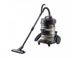 HITACHI Pail Can Vacuum Cleaner 2200 watt with 2 Filters in Black x Gold color CV-985DC
