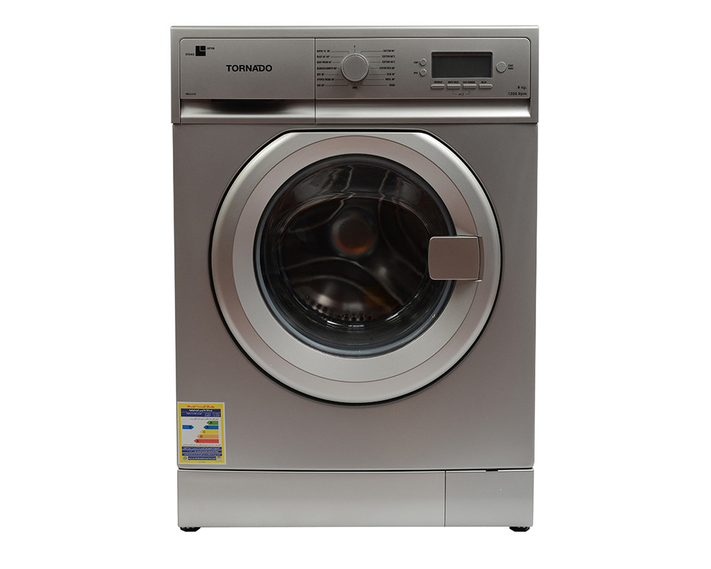 Tornado Washing Machine 8KG Fully Automatic Silver TWFL8-V12S