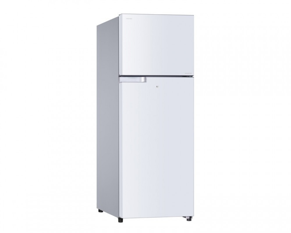 Toshiba Refrigerator Inverter 2 Door 409L White Color With Glass Shelves GR-T46UBZ-E(W)