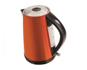 Tornado Stainless Steel Kettle 2200 Watt 1.7 Liter in Orange Color TKS-2217O