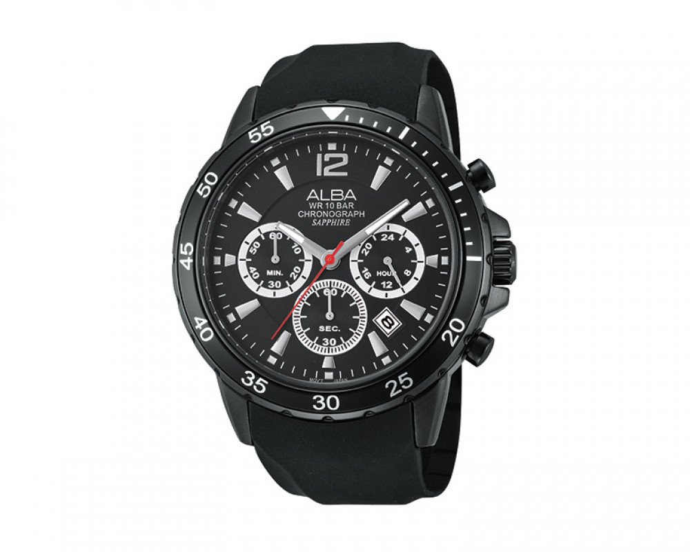 ALBA Men's hand watch Active Black strap & Black dial AT3423X