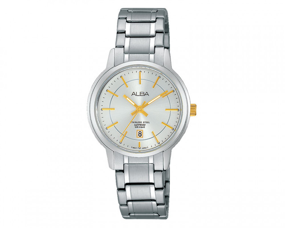 ALBA Ladies' hand watch Prestige Silver white dial and water resistant AH7G83X1