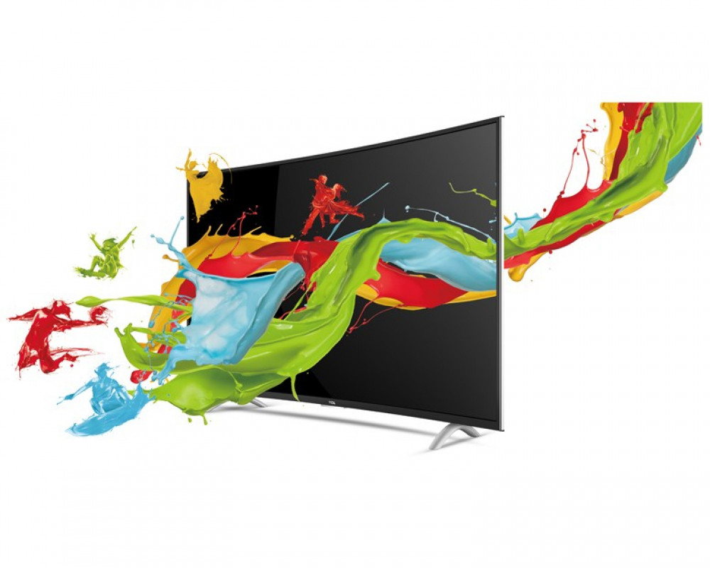 TCL Curved LED Smart TV With Android 48 Inch Full HD & 2 USB and 3 HDMI Inputs 48P1