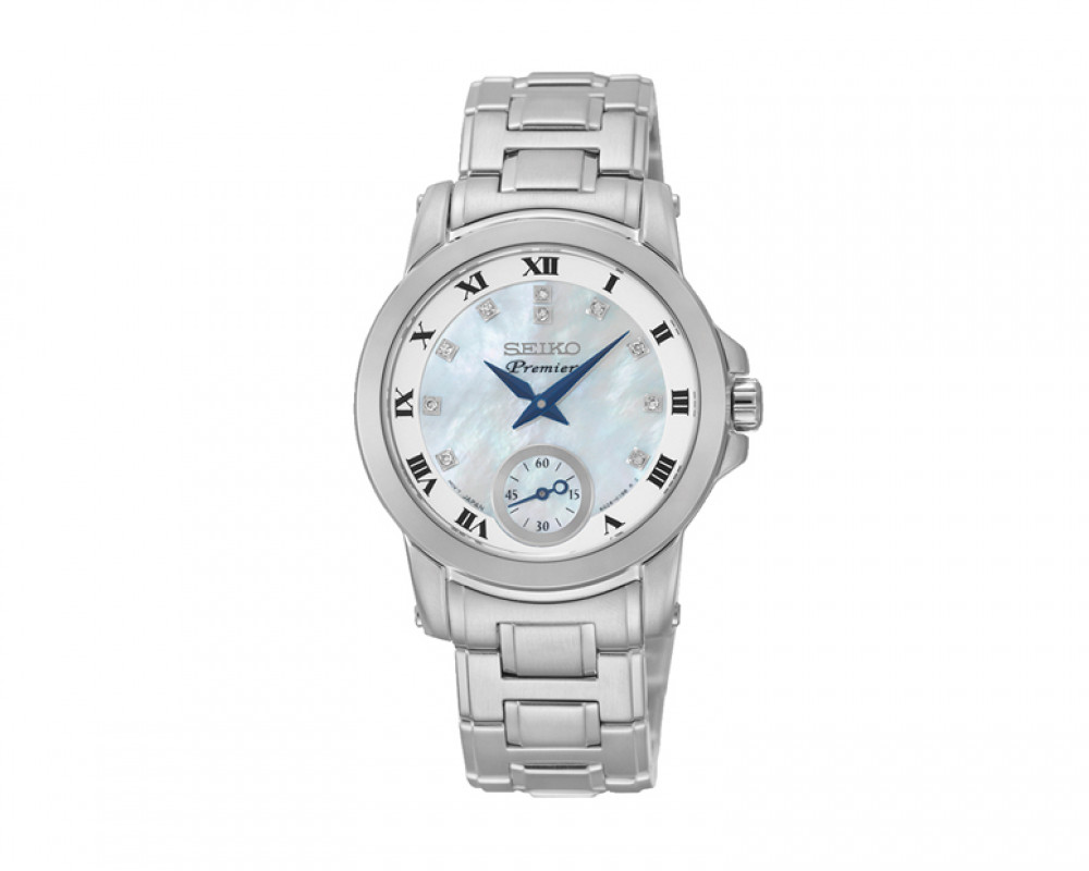 SEIKO Ladies' Premier hand watch with 1 year international warranty SRKZ61P1