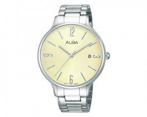 ALBA Ladies hand watch Fashion Beige dial & Stainless Steel bracelet AS9863X1