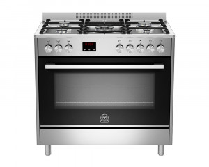 La Germania Cooker 5 Gas Burners 90X60 Stainless with Fan TUS95C81CXS